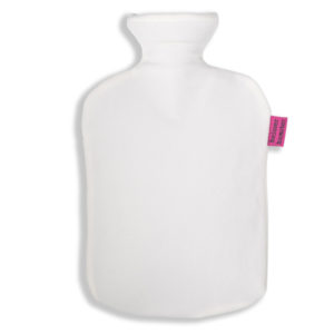 Fleece Wärmflaschenbezug natur