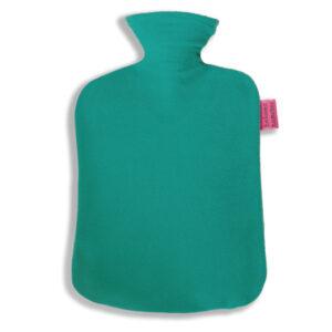 Fleece Wärmflaschenbezug petrol