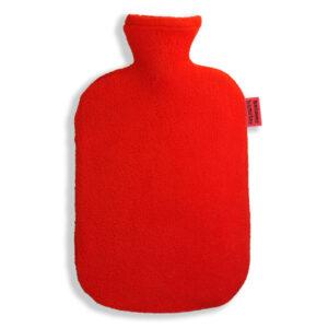 Fleece Wärmflaschenbezug rot