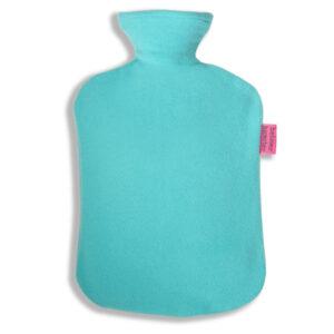 Fleece Wärmflaschenbeszug türkis
