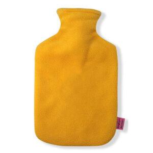 Fleece Wärmflaschenbezug gelb