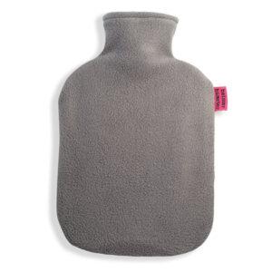 Fleece Wärmflaschenbezug grau