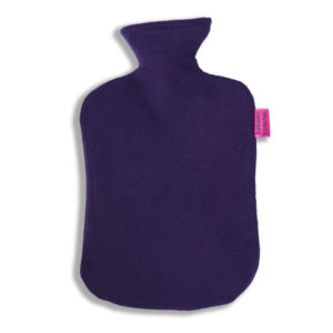 Fleece Wärmflaschenbezug lila
