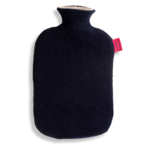Fleece Wärmflaschenbezug navyblau