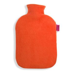 Fleece Wärmflaschenbezug orange