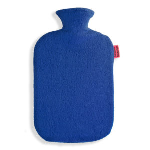Fleece Wärmflaschenbezug royalblau