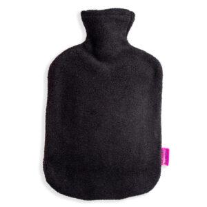 Fleece Wärmflaschenbezug schwarz